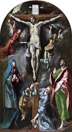 The Crucifixion, c.1597/00 by El Greco | Painting Reproduction