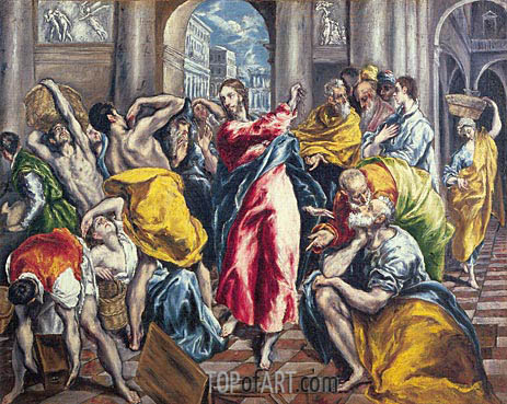 El Greco | The Purification of the Temple, c.1600