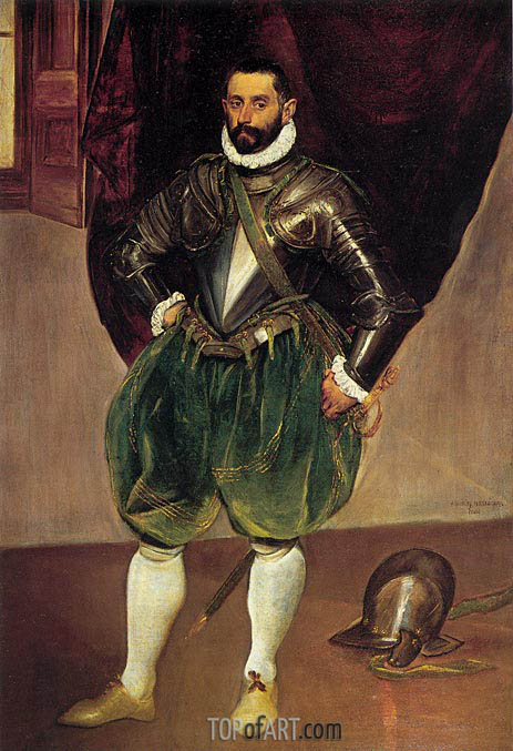 Portrait of Vincenzo Anastagi, c.1571/76 | El Greco | Painting Reproduction