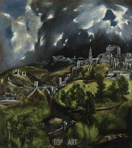 View of Toledo, undated | El Greco | Painting Reproduction