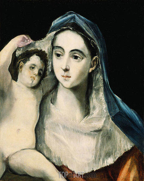 El Greco | Madonna and Child, c.1590