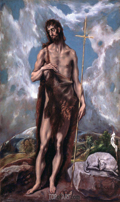 St John the Baptist, c.1600 | El Greco | Painting Reproduction