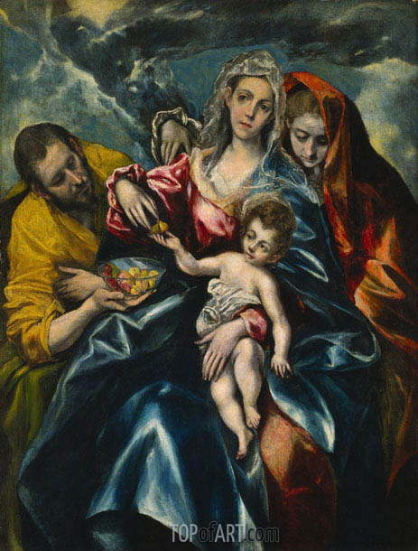 The Holy Family with Mary Magdalen, c.1590/95 | El Greco | Painting Reproduction