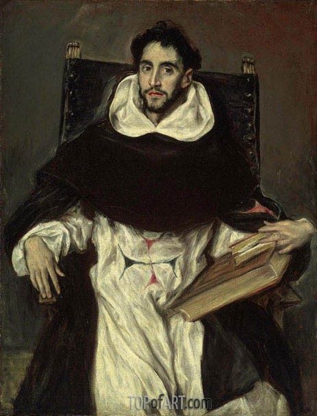 Portrait of Fray Hortensio Felix Paravicino, 1609 | El Greco | Painting Reproduction
