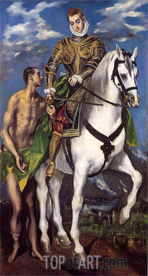 El Greco | Saint Martin and the Beggar, c.1597/99