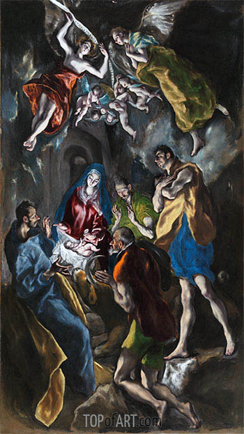 El Greco | Adoration of the Shepherds, c.1612/14