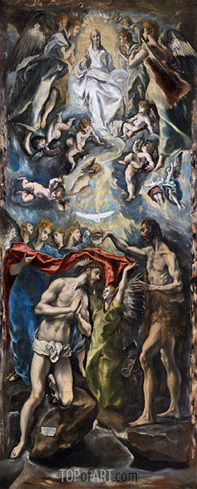 El Greco | The Baptism of Christ, c.1597/00