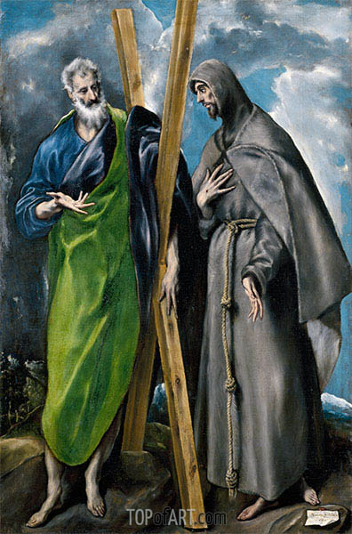El Greco | Saint Andrew and Saint Francis, c.1595