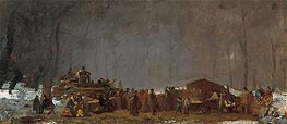 The Maple Sugar Camp - Turning Off, c.1865/73 von Eastman Johnson | Gemälde-Reproduktion