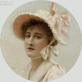 The Pink Bonnet, undated by Blair Leighton | Painting Reproduction