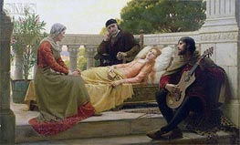 How Liza Loved the King, 1890 by Blair Leighton | Painting Reproduction