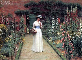 Lady in a Garden, undated by Blair Leighton | Painting Reproduction