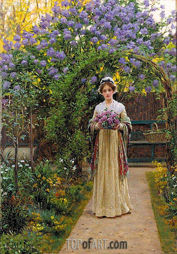Lilac, 1901 | Blair Leighton | Painting Reproduction