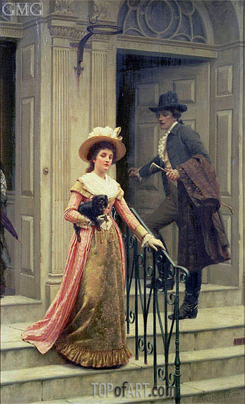 My Next-Door Neighbour, 1894 | Blair Leighton| Painting Reproduction