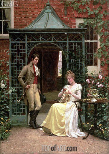 On the Threshold, 1900 | Blair Leighton | Painting Reproduction