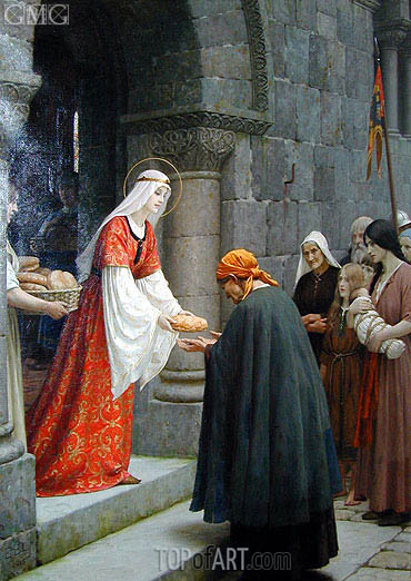 The Charity of Saint Elizabeth of Hungary, 1915 | Blair Leighton | Gemälde Reproduktion