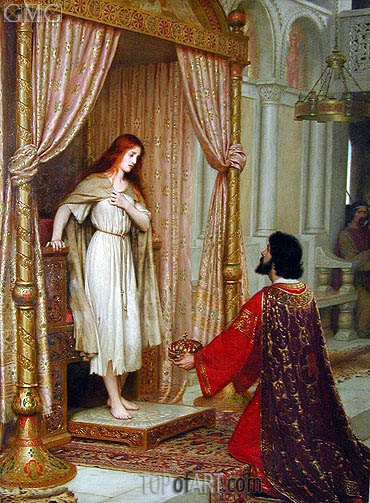 The King and the Beggar-Maid, undated | Blair Leighton| Painting Reproduction