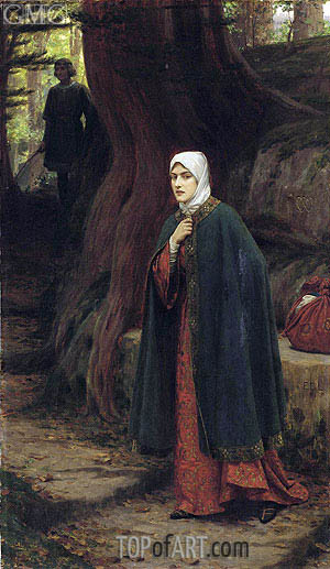 Forest Tryst, undated | Blair Leighton | Painting Reproduction