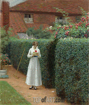 Le Billet Doux, 1915 | Blair Leighton| Painting Reproduction