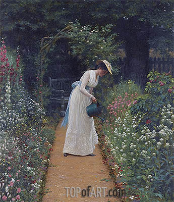 My Lady's Garden, 1905 | Blair Leighton| Gemälde Reproduktion