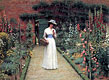 Lady in a Garden | Edmund Blair Leighton