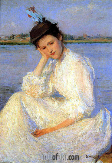 Portrait of a Lady,  | Edmund Charles Tarbell | Painting Reproduction