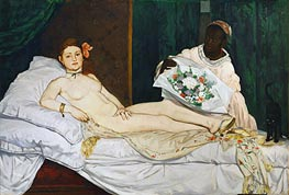 Olympia, 1863 by Manet | Painting Reproduction