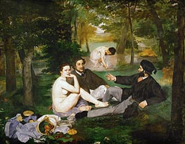 The Lunch on the Grass, 1863 by Manet | Painting Reproduction