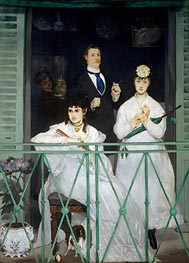 The Balcony, c.1868/69 by Manet | Painting Reproduction