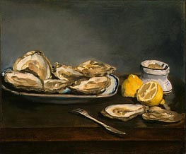 Oysters, 1862 by Manet | Painting Reproduction