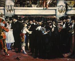 Masked Ball at the Opera, 1873 by Manet | Painting Reproduction