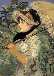 Jeanne - Spring, 1881 by Manet | Painting Reproduction