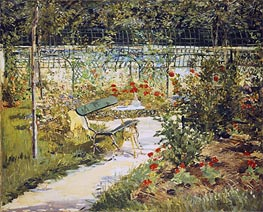 The Bench, The Garden at Versailles, 1881 by Manet | Painting Reproduction