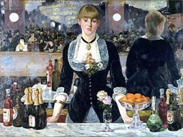 A Bar at the Folies-Bergere, c.1881/82 by Manet | Painting Reproduction