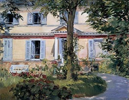 The House at Rueil, 1882 by Manet | Painting Reproduction