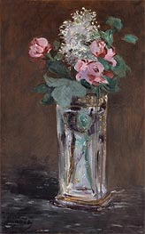 Flowers in a Chrystal Vase, c.1882 by Manet | Painting Reproduction