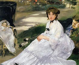 In the Garden | Manet | Gemälde Reproduktion