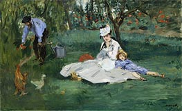 The Monet Family in Their Garden at Argenteuil | Manet | veraltet