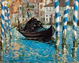 Der Canal Grande, Venedig (Blau Venedig) | Manet | Gemälde Reproduktion