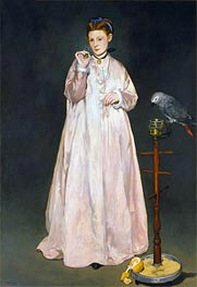 Young Lady with Parrot | Manet | veraltet