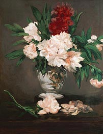 Peonies in a Vase on a Stand | Manet | Gemälde Reproduktion