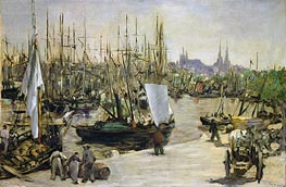 The Port of Bordeaux | Manet | Gemälde Reproduktion