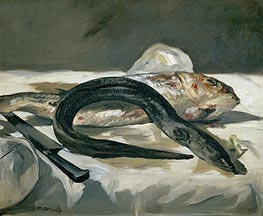 Eel and Red Mullet | Manet | Gemälde Reproduktion