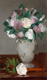 Peonies, c.1864/65 by Manet | Painting Reproduction