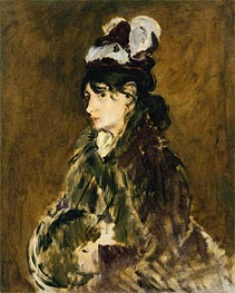 Berthe Morisot, c.1873 by Manet | Painting Reproduction