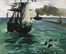 Marine View, c.1864 by Manet | Painting Reproduction
