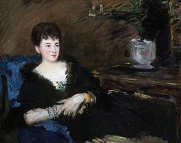 Portrait of Isabelle Lemonnier, c.1877 by Manet | Painting Reproduction