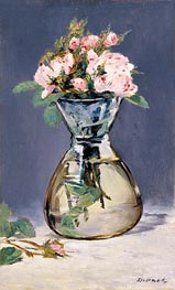 Moss Roses in a Vase | Manet | Gemälde Reproduktion