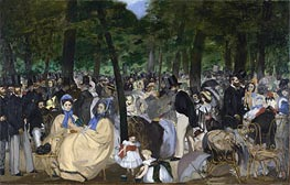 Music in the Tuileries Gardens | Manet | Gemälde Reproduktion
