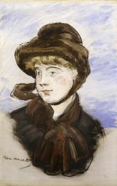 Young Girl in a Brown Hat | Manet | Gemälde Reproduktion